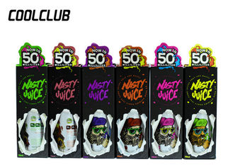 50ML Nasty 9 Flavor Vape Pure Taste E Smoke Liquid 99.9٪ مستوى النيكوتين